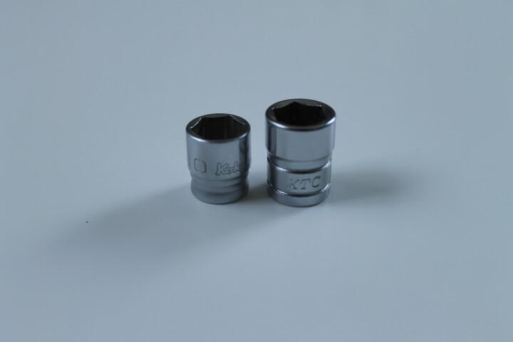 """1/4""""ソケットサイズZ-EALとKTC比較"""